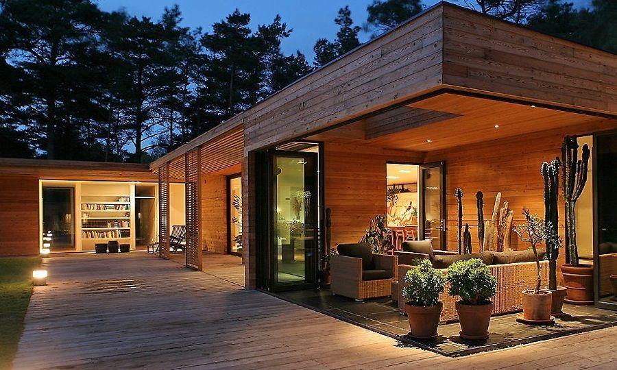 Casas de madera modernas